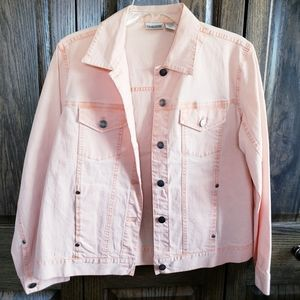 Chico's Women's Orange Jean Jacket